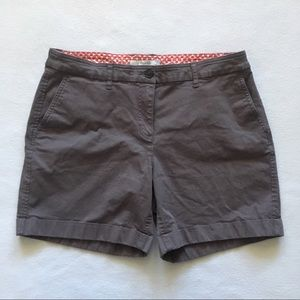Boden Taupe Brown Flat Front Chino Shorts US 10